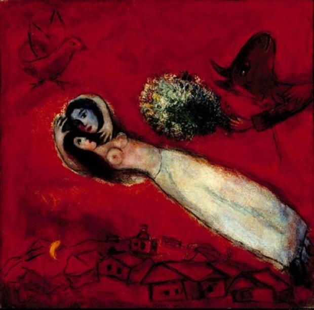 Les-Amants-au-ciel-rouge-1950-Marc-Chagall