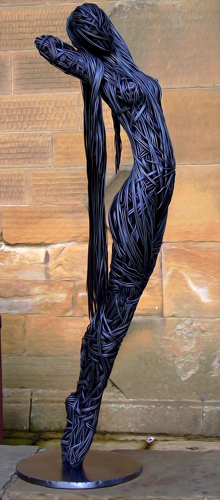 sculture-filo-metallico-Richard-Stainthorp-02